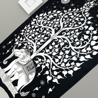 Indian Twin Elephant Tapestry Hanging Tree Of Life Hippie Bedding Throws Cotton Home Decor Art Traditional Royal Jaipur Beach Twin Beddings