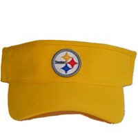 Youth Pittsburgh Steelers Yellow Visor Hat - NFL Child Baseball Golf Cap