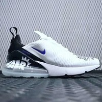 Nike AIR MAX FLYKNIT fashion graffiti 270 summer air cushion shoes F-CSXY white