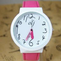 Trendy teenage leather strap girl watch - Myfriendshop