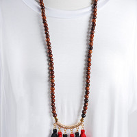 The Isabella Necklace - Red/Black