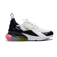 Nike Air Max 270 White Black Rainbow Running Shoes - Best Deal Online