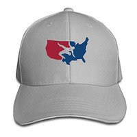 Men's Support USA Wrestling Adjustable Washed Twill Sandwich Caps Hats