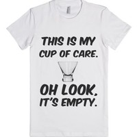 Cup Of Care-Female White T-Shirt