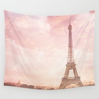 Paris in Pink Wall Tapestry by Legends of Darkness Photography