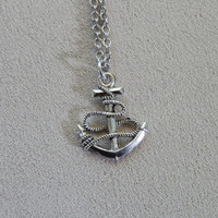 Necklace, One Direction, Harry Styles tattoo inspired, Anchor Charm Pendant