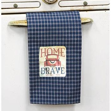 Home of the Brave Truck Dish Towel