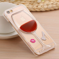 iPhone 6 Liquid Flowing 3D Wine Glass Clear Case