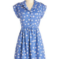 Bibico Mid-length Short Sleeves Shirt Dress Champs-Elysees You Do Too Dress in Cornflower