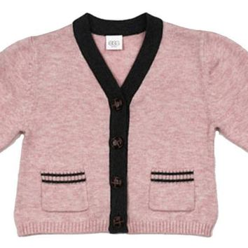 EGG Baby Pink Knit Infant Cardigan 6-12 months