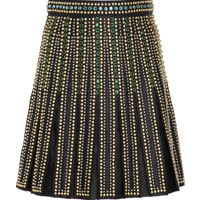 Pleated A-Line Leather Skirt | Moda Operandi