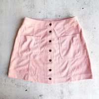 high standards suede skirt - pink