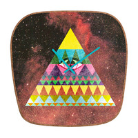 Nick Nelson Pyramid In Space Modern Clock