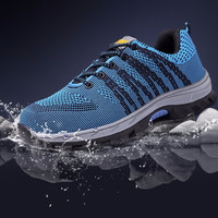 Air Mesh Men Boots Work Safety Shoes Steel Toe Cap For Anti-Smashing Anti-Puncture Durable Breathable Protective Footwear