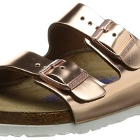 Birkenstock Arizona Metallic Copper Womens Leather Sandals Shoes