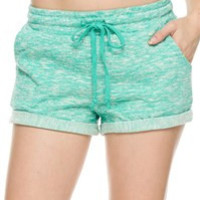 Terry Rolled Hem Shorts: Mint