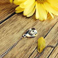 Tiny Silver Cowboy Hat Charm Necklace