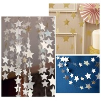 4 M Romantic Colorful Stars Baby Paper Flowers Event Party Supplies Artificial Birthday Party Wedding Decoration-alc