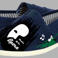 Hand Painted Flats. The Phantom of the opera. Handpainted shoes.