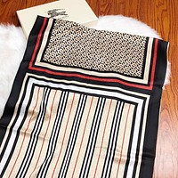 BURBERRY Summer New Woman Comfortable Silk Cape Scarf Scarves Shawl Accessories