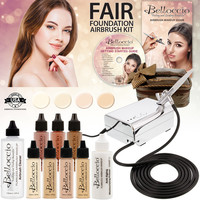 FAIR DELUXE AIRBRUSH MAKEUP SET COMPRESSOR, HOSE, FOUND, BAG