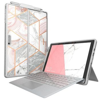 I-BLASON For Microsoft Surface Pro 7 Case/Pro 6 Case Cosmo Slim Protective Marble Cover with Pen Holder,Compatible With Keyboard