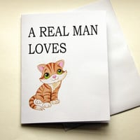 Naughty Card, Card For Boyfriend, Dirty Card, Man Loves Pussy, Gift For Him, Cat Card, Adult Humor, Funny Card, Mature Card, Nasty Card