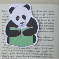 Magnetic bookmark of Paul the Panda! Book accessories, Unique bookmark, School supplies, Book gift, Animal collectibles, BOOK FARM ANIMALS