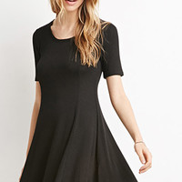 Ribbed Skater Dress