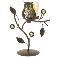 Malibu Creations Wise Owl Votive Stand - Beyond the Rack