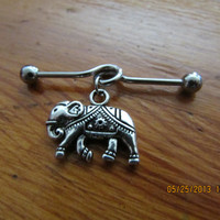 Industrial Barbell - Silver Elephant Industrial Barbell - Industrial Piercing
