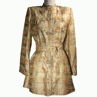 Chinese Embroidered Silk Tailored Jacket