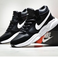 NIKE Couple models wear-resistant cushioning non-slip casual shoes running shoes Black