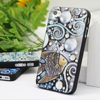Cool iPhone 4 / 4s Case with Embossment - The Fish