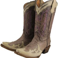Corral Youth Eagle Wing Tip Western Boot