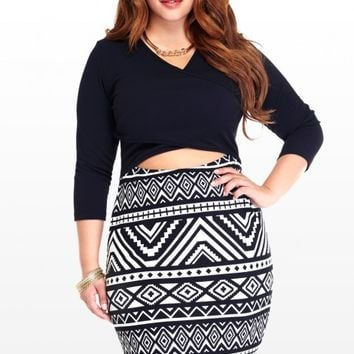 Plus Size Tribal Peekaboo Dress | Fashion To Figure
