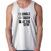 Single Taken At The Gym 2 For Mens Tank Top ***