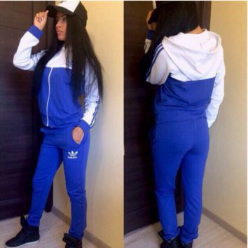 """""""ADIDAS""""  The new women's sports leisure suit Blue"""