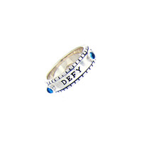 Defy Gravity For life Sterling Silver Spin Ring