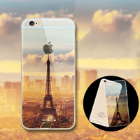 Beautiful City Mountain Ocean Transparent Case Cover For iPhone 5S 6 6S Plus Gift