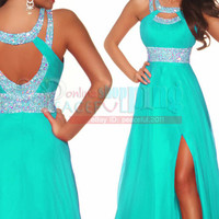 New Long Cocktail Evening Prom Bridesmaid Formal Gown Ball Chiffon Party Dress