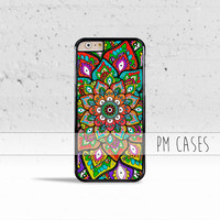 Mehndi Pattern Case Cover for Apple iPhone 4 4s 5 5s 5c 6 6s SE Plus & iPod Touch