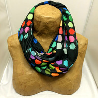 Colorful Knit Scarf - Darth Color Chart Chunky Infinity Scarf