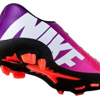 Nike Youth Mercurial Veloce FG Soccer Cleats - Fireberry and Green - SoccerPro.com