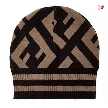 Fendi New fashion letter print couple knit cap hat 1#