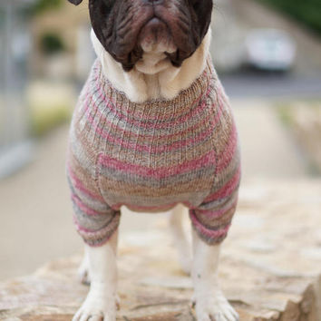 French Bulldog Sweater For Dogs Frenchie clothing Dog sweater Tops Dog Clothing Pet clothes Dog Apparel Clothes for dogs Pet Sweater Jumper