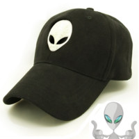 Aliens Outstar Saucer Space E.T UFO Fans Black Fabric Baseball Hat