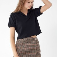 Urban Renewal Remade Overdyed Cropped Polo Shirt | Urban Outfitters