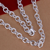 silver plated Chain Shmripe Lock Thick Necklaces Pendants Men jewelry 1 MP