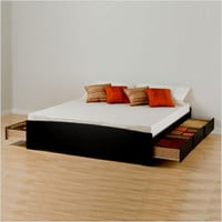 Prepac Black Sonoma King Platform Storage Bed | All Modern